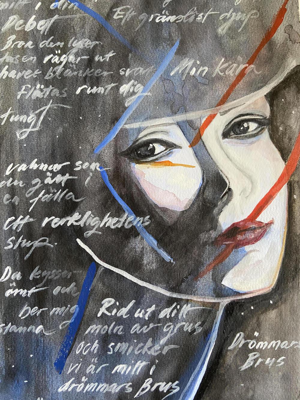 Text & Akvarell